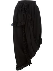 Simone Rocha Ruffled Trim Skirt Black
