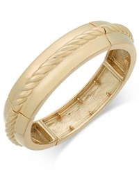 Charter Club Gold Tone Rope Bangle Stretch Bracelet Only At Macy's