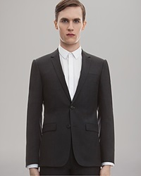 Sandro Two Button Suiting Jacket Anthracite