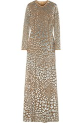 Michael Kors Sequin Embellished Tulle Gown Metallic