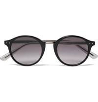 Bottega Veneta Round Frame Acetate And Metal Sunglasses Black