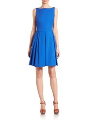 Polo Ralph Lauren Sleeveless Pleated Dress Blue