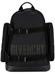 Givenchy Logo Print Backpack Black