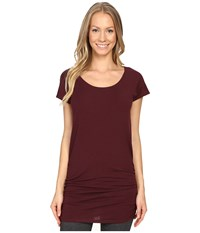 Lucy Yoga Girl Tunic Top Fig Women's Workout Brown