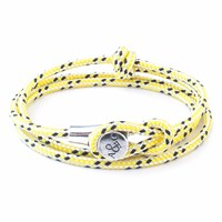 Anchor And Crew Yellow Dash Dundee Rope Bracelet Yellow Orange