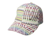 Collection Xiix Rainbow Woven Baseball Hat White Caps