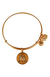 Alex And Ani 'Miami Marlins' Expandable Charm Bangle Gold