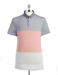7 Diamonds Colorblock Polo Coral