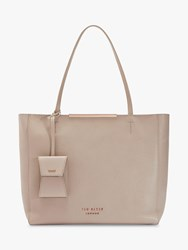 Ted Baker Dixiie Leather Bar Detail Shopper Bag Taupe