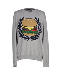 Frankie Morello Knitwear Jumpers Men Grey