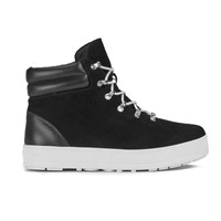 F Troupe Women's Suede Lace Up Hiker Boots Black