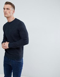 New Look Waffle Knit Jumper In Navy