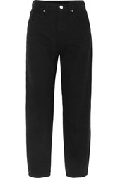 Gold Sign Goldsign The Curved Cropped High Rise Tapered Jeans Black