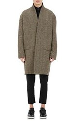 Haider Ackermann Herringbone Cocoon Coat Yellow