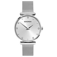 Sekonda 2491.27 Women's Crystal Bracelet Strap Watch Silver