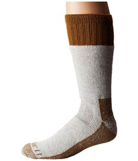 Carhartt Cold Weather Boot Socks 1 Pair Pack Brown Men's Crew Cut Socks Shoes