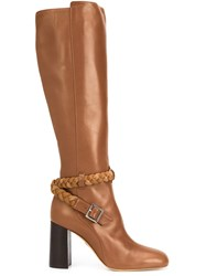 Ritch Erani Nyfc Braided Detail Knee Length Boots Brown