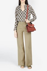A.L.C. Women S Miles Wide Leg Flared Trousers Boutique1 Khaki