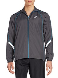 Asics Reflective Track Jacket Dark Grey