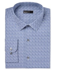 Bar Iii Men's Slim Fit Navy Cromwell Floral Print Dress Shirt Only At Macy's