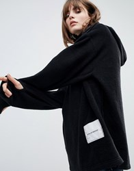 Cheap Monday Fleece Hoodie With Patch Logo Black