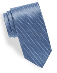 Hugo Small Dotted Silk Tie Light Blue