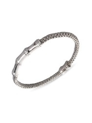 John Hardy Bamboo Sterling Silver Station Chain Bracelet No Color