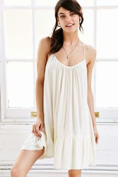 Out From Under Gauze Tiered Slip Dress Ivory