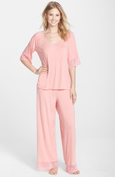 Belabumbum 'Tallulah' Maternity Tunic And Pants Pink Guava