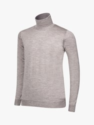 Oscar Jacobson Cole Roll Neck Jumper Natural