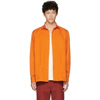 Schnayderman's Orange Tech Twill Overshirt