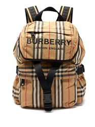 Burberry Wilfin Small Icon Stripe Backpack Beige Multi