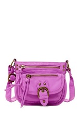 T Shirt And Jeans Mini Washed Crossbody Purple