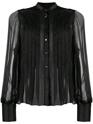 Temperley London Pleated Chiffon And Satin Blouse 60