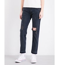 Levi's 505 Cropped Straight Mid Rise Jeans Summer Of Love