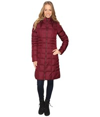 The North Face Metropolis Parka Ii Deep Garnet Red Women's Coat Brown