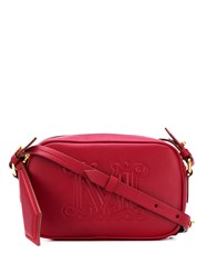 Max Mara Logo Embossed Small Shoulder Bag Red