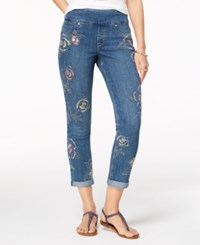 Styleandco. Style Co Embroidered Boyfriend Jeans Created For Macy's Kingston
