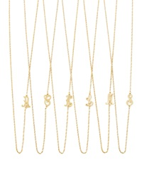Jennifer Zeuner Jewelry Jennifer Zeuner 18K Gold Vermeil Mini Initial Necklace Q