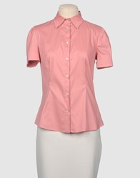 Exte Shirts Short Sleeve Shirts Women Pastel Pink