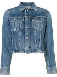 Citizens Of Humanity Stonewashed Denim Jacket Blue