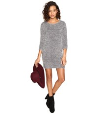 Bb Dakota Laurentia Eyelash Sweater Dress Dark Charcoal Women's Dress Gray