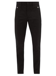 Burberry Slim Fit Cotton Trousers Black