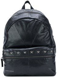 Jimmy Choo Reed Backpack Cotton Leather Black
