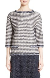 St. John Women's Collection Vany Tweed Knit Top