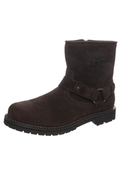 Dockers By Gerli Cowboy Biker Boots Chocolate Dark Brown