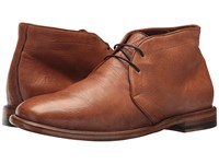 Frye Fisher Chukka Tan Deer Skin Leather Lace Up Wing Tip Shoes