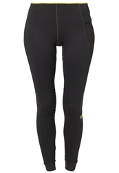 Gore Running Wear Air Lady Tights Raven Brown Cadmium Yellow