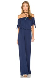 Clayton Daliah Off The Shoulder Jumpsuit Navy