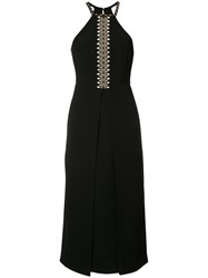 Yigal Azrouel Shell Embroidery Dress Women Polyester 4 Black